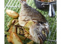 Dorade royale au barbecue sauce vierge
