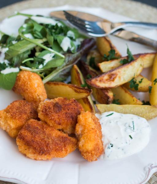 Nuggets de Joue de Baudroie au Parmesan et Paprika - © Food for Love