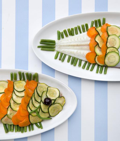 Sole en écailles de légumes - © Patrick Lavic